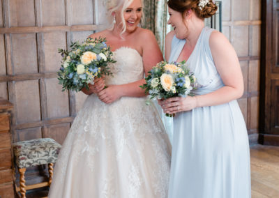 bride and bridesmaid hair style at lymph castle by pretty please by katie