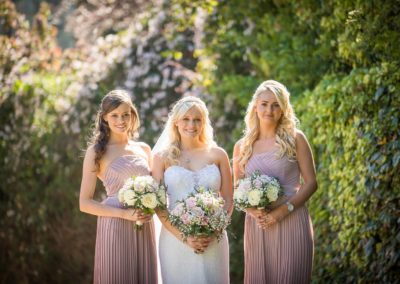 bride and bridesmaids hair and make up by pretty please by katie