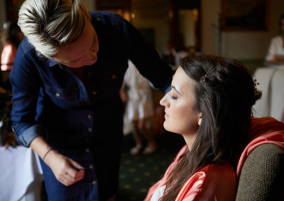bridesmaids make up at chilston park by pretty please by katie