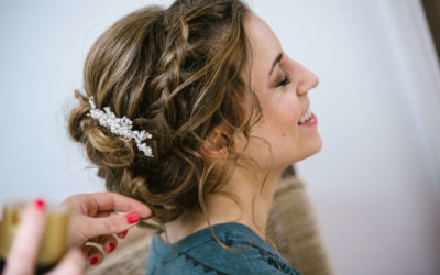 3 things to consider when wearing your wedding hair up