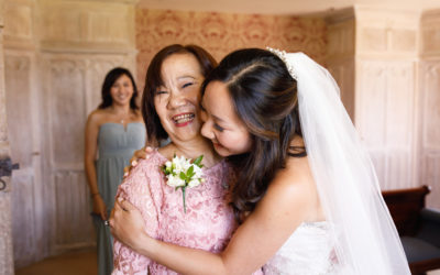 Real Bride: Wedding hair and make up for Lynn at Leeds Castle Kent