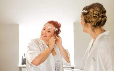 Real Bride: Wedding hair and make up for Elouise at The Gardens, Yalding
